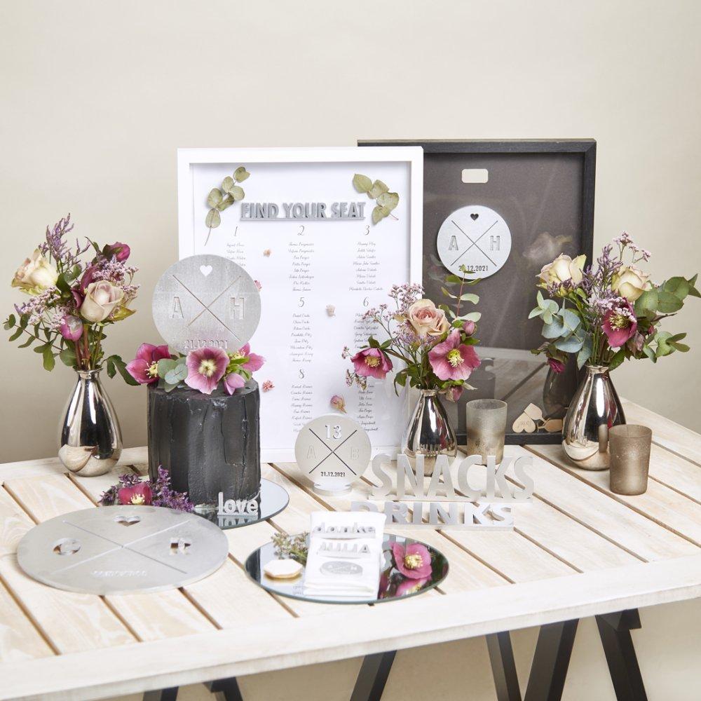Hochzeit-Set Abstrakt