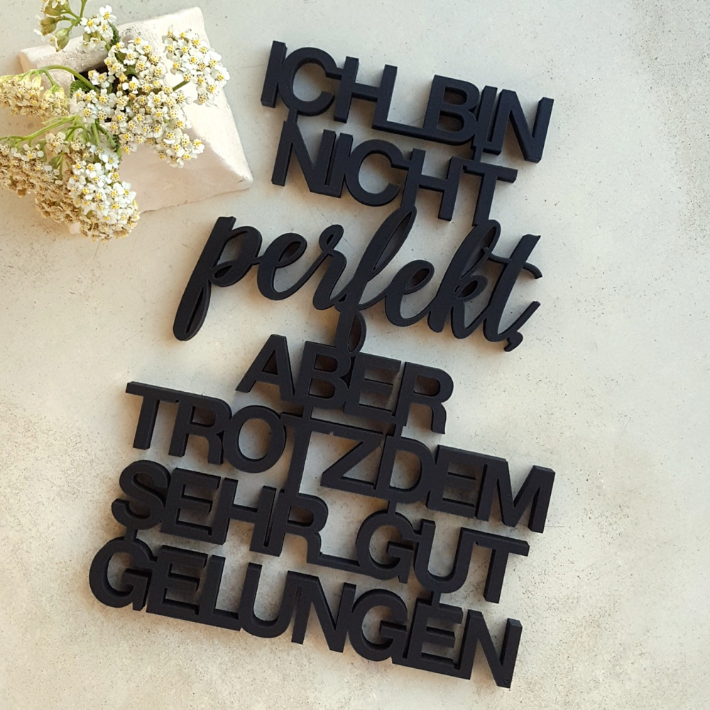 3D Font - NOGALLERY - 3D wood lettering made in Cologne