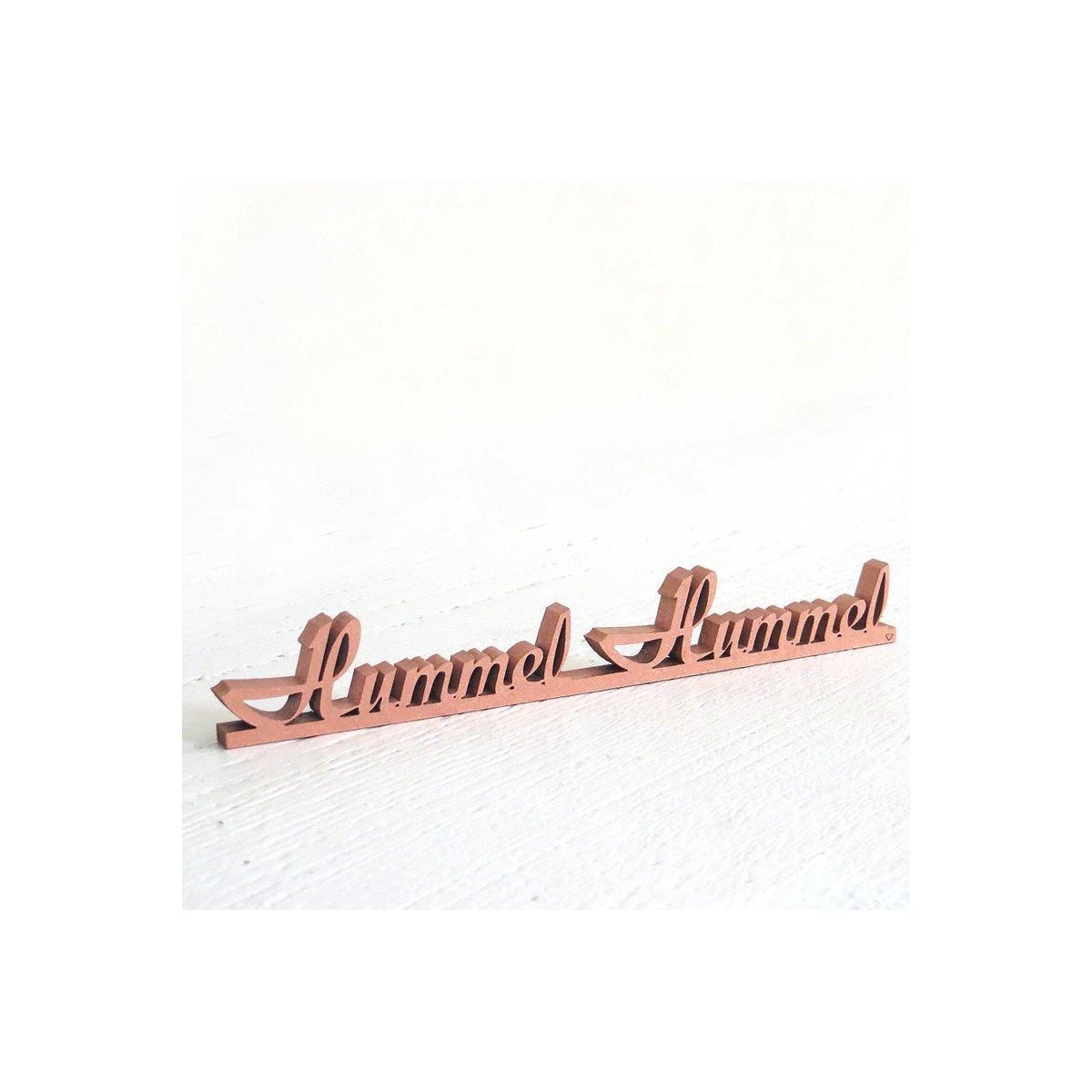 Hummel Hummel, 14,50 € - NOGALLERY - 3D Holzschriftzüge - das Or