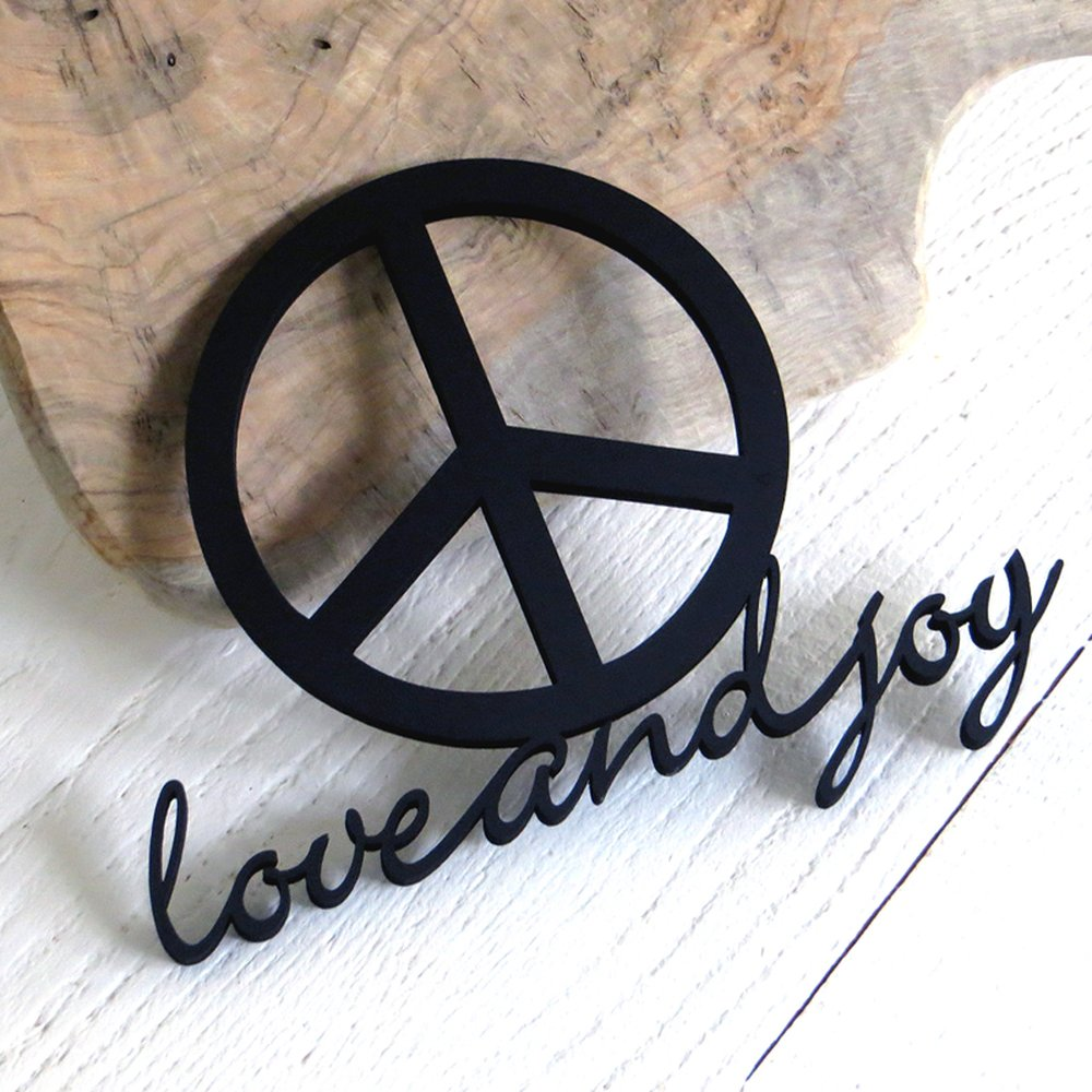 Peace Symbol Love And Joy 1650 Nogallery 3d Wood Letteri