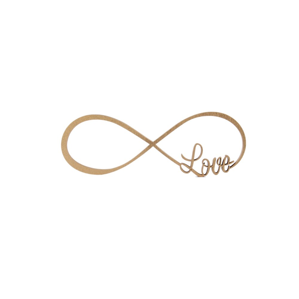 infinity symbol Love, 16,50 € - NOGALLERY - 3D wood ...