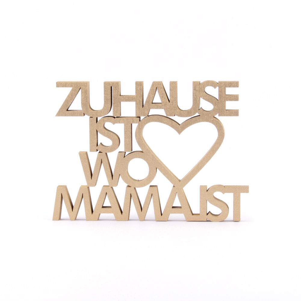 Zuhause Ist zuhause ist wo ist 14 50 nogallery 3d wood lettering
