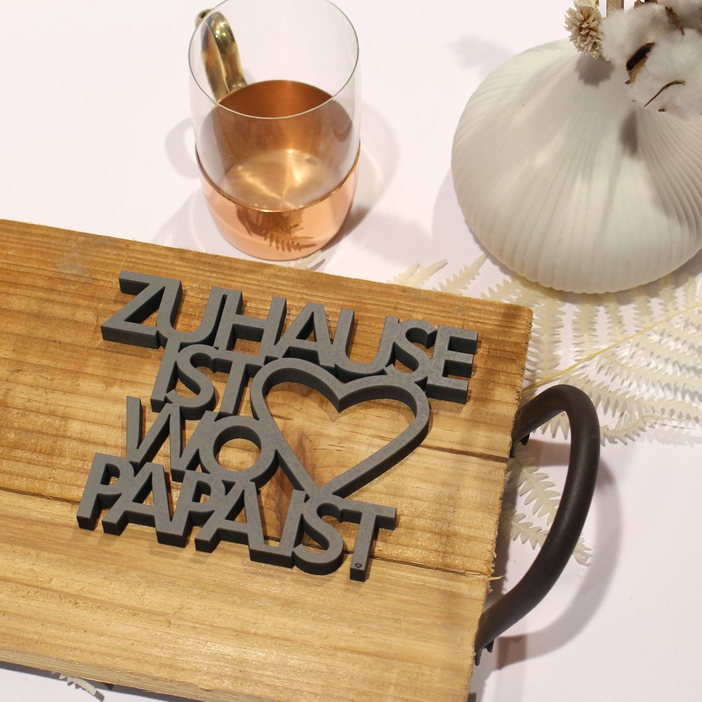 Zuhause Ist zuhause ist wo papa ist 14 50 nogallery 3d wood lettering