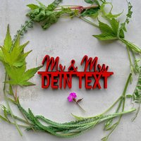 Mr & Mrs mit Name